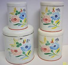 ebay kitchen canisters 142 best vintage kitchen canisters images on vintage