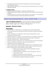 maintenance engineer cover letter electrical maintenance engineer
