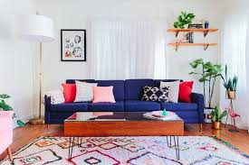blue couch living room 20 impressive blue sofa in the living room home design lover