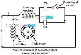 single phase capacitor start run motor wiring diagram pdf