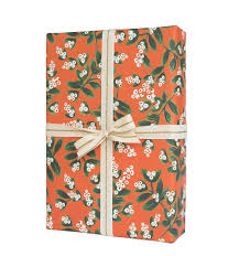 mistletoe gift wrap by rifle paper co made in usa