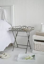 grey metal bedside table grey wooden bedside table from the white lighthouse white and grey