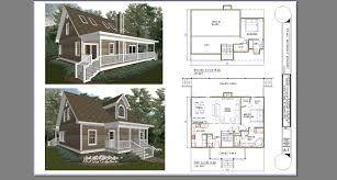 cabin plans with loft small and porch this three bedroom house