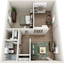 3d Office Floor Plan One Bedroom Floor Plans Northfield Lodge Apartments