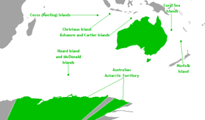 territories of australia map states and territories of australia simple
