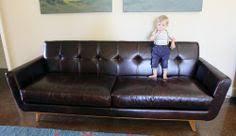 Nixon Leather Sofa Nixon Leather Sofa In Brompton Brown Home Living Room