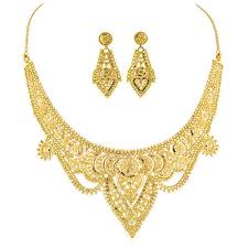 necklace golden images Designer gold necklace set gold gold jewellery harilal jpg