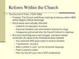 Council Of Trent Reforms Counter Reformation