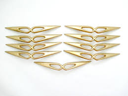 Vintage Kitchen Cabinet Pulls Lot Of 9 Vintage Mid Century Modern Drawer Pulls 3 5 By Fairyhome