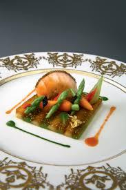 recette cuisine gastro langoustine sur symphonie de légumes colorés caviar impérial