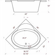 Bathtub Sizes Standard Corner Tub Dimensions Sarashaldaperformancecom