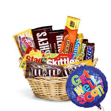 Delivery Gifts For Men Get Well Candy Gift Basket At Send Flowers