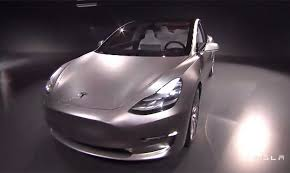 tesla unveils 35k model 3 electric car for the masses with 215