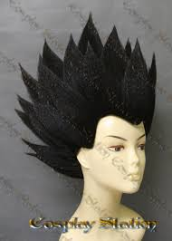 Vegeta Halloween Costume Adults Vegeta Black Wig Wigs Unique