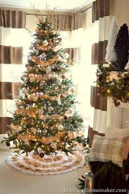 White Christmas Tree Brown Decorations by Red And White Christmas Tree With Natural Elements