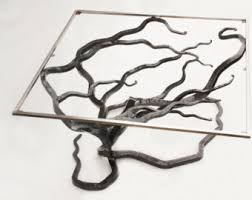 Metal And Glass Coffee Table Metal Coffee Table Etsy