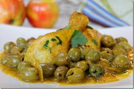 cuisine marocaine poulet aux olives poulet aux olives دجاج بالزيتون les joyaux de sherazade