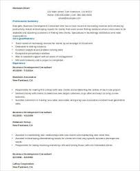 Consultant Resume Samples by Sample Consulting Resume 8 Examples In Word Pdf