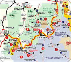 grand national park map zf a stop at the anasazi state park museum boulder nr 17 on