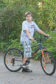 10 year boy on bike