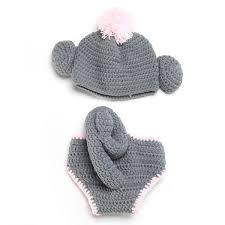 Sock Monkey Costume Aliexpress Com Buy Sock Monkey Crochet Baby Hat With Diaper