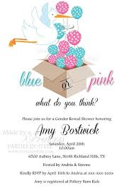 gender reveal baby shower or pink balloons gender reveal baby shower invitation