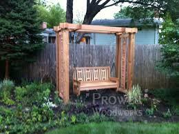 outdoor wood swing pergola 31