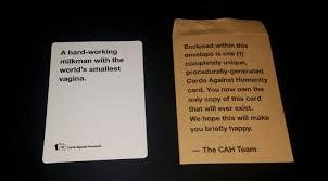 buy cards against humanity my cards against humanity random card album on imgur