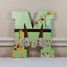 Letter Decorations For Nursery Baby Nursery Decor Shocking Green Baby Letters For Nursery Wall