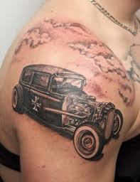 outstanding classic car tattoo design make on men u0027s upper sleeve