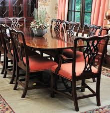 mahogany dining table by councill craftsmen and eight chairs ebth