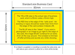 Bleed For Business Cards Business Cards Size Standard Business Card Size And Business