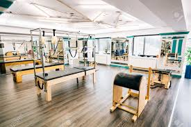 pilates trapeze table for sale trapeze table reformer ladder barrel in a pilates room stock photo
