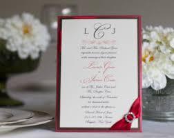 Bling Wedding Invitations Red Wedding Invites