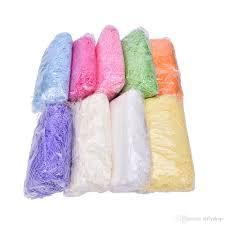 box of tissue paper multi color craft shredded crinkle paper basket shred shredded
