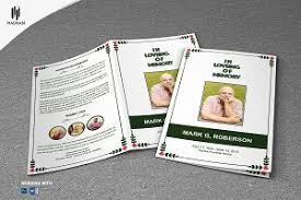 sle of funeral programs black white style funeral template brochure templates