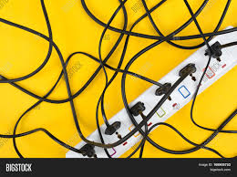 maximum electrical cords connected image u0026 photo bigstock