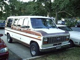 ford econoline 150 conversion van my mom and dads was 2 tone