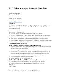 Sample Resume Format For Experienced Bpo Professionals by Sample Resume Bpo Experience Augustais