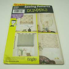 simplicity roman shades sewing pattern for dummies 5260 window