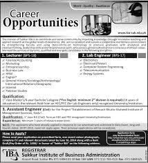 Electronics Engineer Job Description Assistant Engineer Civil Required At Sukkur Iba Sukkur Civil