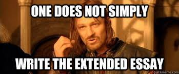 Essay Memes - highlighting the extended essay in the college admissions process