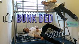 metal bunk bed high sleeper with futon youtube