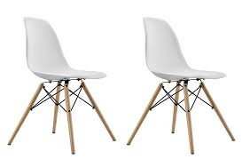 Mid Century Modern Plastic Chairs Dhp Furniture Mid Century Modern Molded Chair With Wood Leg