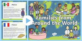family ks1 families around the world powerpoint presentation