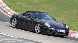 green porsche boxster 2012 porsche boxster spied showing more skin at the nurburgring