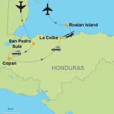 map of roatan honduras copan la ceiba roatan island customizable itinerary