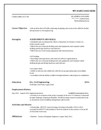 A Job Resume Example by College Resume Objective Resume Objective Tips Entry Level