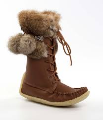 womens brown leather boots canada kananaskis brown leather outer with brown rabbit fur womens