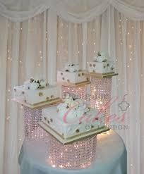 Chandelier Cake Stencil Rama U2013 Crystal Chandelier Waterfall Asian Wedding Cake U2013 Stand